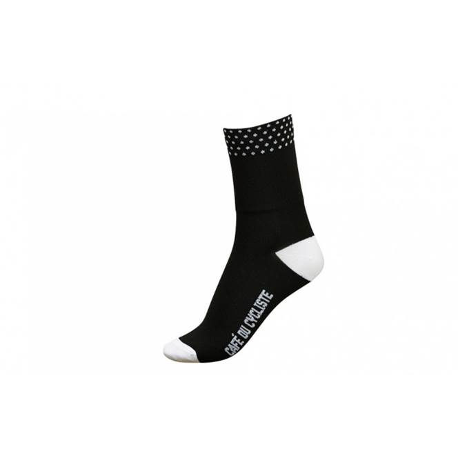 Cafe Du Cycliste Low Cuff Socks Black Dotted