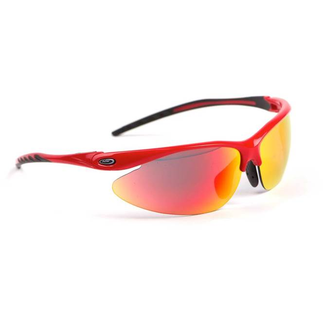 Northwave Team Red - Multi-Layered Red + Orange + Clear Lenses