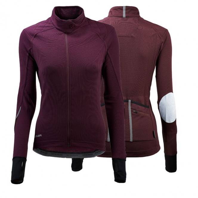 Cafe Du Cycliste Yolande Long Sleeve Jersey Womens Aubergine